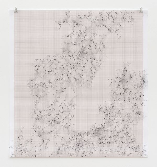 Inframondo (Underworld) Emma Kunz Grotte # 12 2019 graphite on graph paper 80 x 75 cm