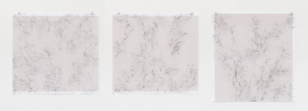 Inframondo (Underworld) Emma Kunz Grotte # 22 #23 # 24 2019 graphite on graph paper 80 x 75 cm each